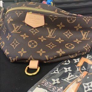 Designer leather fanny pack